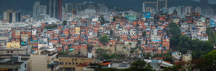 Wall Murals Rio de Janeiro Rio de Janeiro downtown and favela