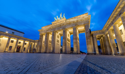 Poster Berlin Famous Brandenburg Gate In Berlin. Germany in the night