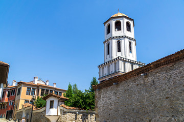 view of the streets of plovdiv city,