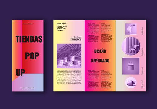 Diseño de folleto colorido para tiendas