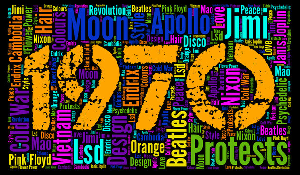 Word Cloud: the year1970, 50 years ago