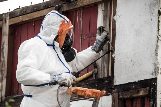 team responsible for removing asbestos on a construction site