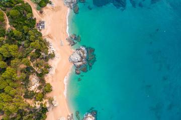 Fototapete - Clear sea and sand seashore