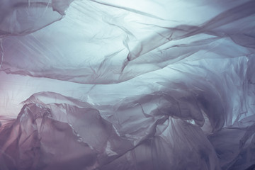 Beautiful plastic bag abstract  background. No Plastic Bag Concept, save world, protect earth.