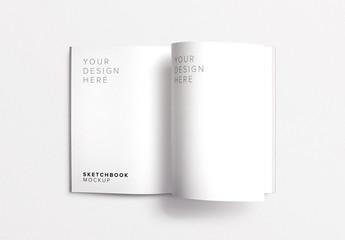 Open Sketchbook Mockup