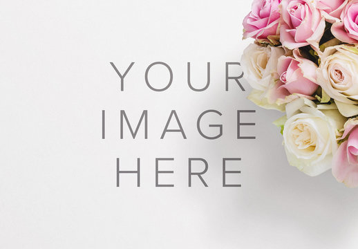 Bouquet of Roses Mockup