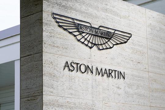 Aston Martin car sign dealership