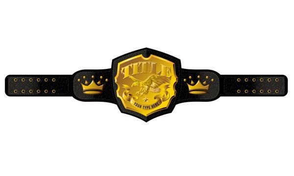 Title Championship Belt Vector
