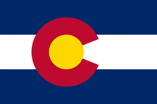 Flag of the State of Colorado Vector illustration