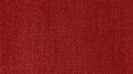 Foto op Canvas Stof Dark red woven fabric texture background. Closeup