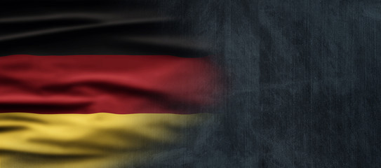 Germany National Holiday. German flag with dark background and national colors. Unification. Fototapete