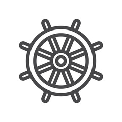 Helm vector icon, simple sign for web site and mobile app.