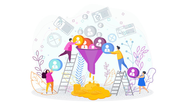 Sales funnel concept