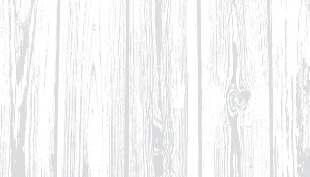 Weathered White Wood Vector Background. Rustic Whitewashed Wooden Planks with Light Gray Grains. Neutral Gray-scale Overlay Texture. Photography Backdrop. Textured Surface.