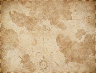 Wall Mural - Abstract old nautical vintage map background