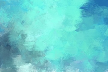 vintage brush painted artwork with medium turquoise, sky blue and teal blue color. can be used as texture, graphic element or wallpaper background Wall mural