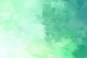 Poster Groene koraal abstract grunge brush drawn illustration with tea green, blue chill and medium aqua marine color. artwork can be used as texture, graphic element or wallpaper background