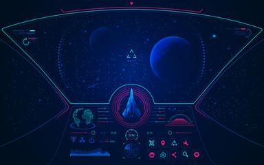 spaceship mode Wall mural