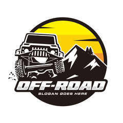 Off road logo vector