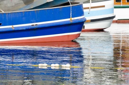 Colorful boats at Fishermens Terminal in Ballard