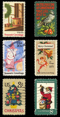 Briefmarken gestempelt stamps vintage retro amerika US Christmas mail Post