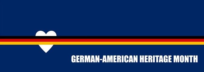 German-American Heritage Month -poster, card, banner, background design. Vector EPS 10