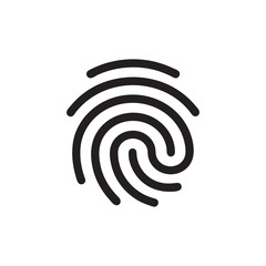 Fingerprint vector icon, security symbol. Simple, flat design for web or mobile app