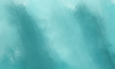 abstract diffuse painted background with medium aqua marine, cadet blue and light blue color. can be used as texture, background element or wallpaper Wall mural