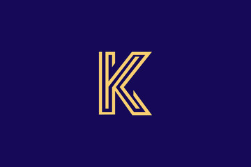 Initial based clean and minimal K Logo. Kk letter creative fonts monogram icon symbol. Universal elegant luxury alphabet vector design
