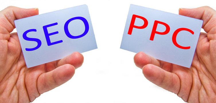 SEO versus PPC - Search Engine Optimization vs Pay Per Click