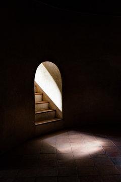Light from ladder to dark room