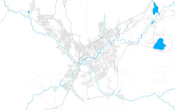 Rich detailed vector map of St. George, Utah, USA