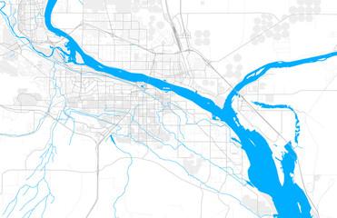 Rich detailed vector map of Kennewick, Washington, USA Fototapete
