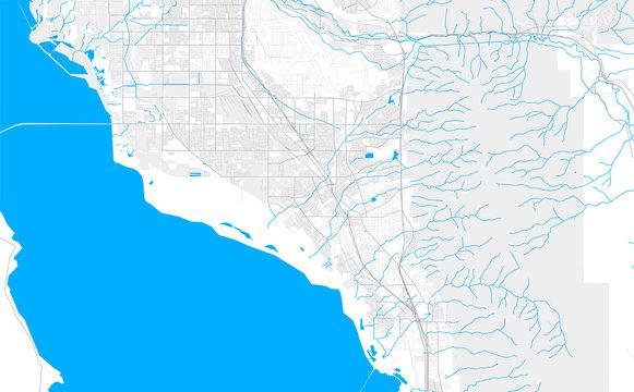 Rich detailed vector map of Layton, Utah, USA