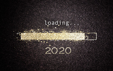 2020 New Year concept loading a screen