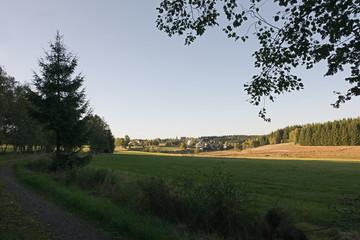 Landscape near Reitzenhain village in german Ore mountains on 21th september 2019