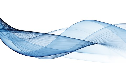 Abstract Business Soft Blue Wave Template Brochure Flyer Background Wall mural
