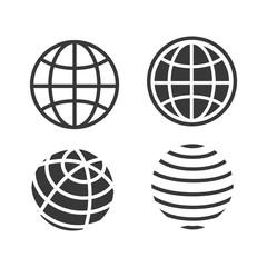 Set of Earth globe icon
