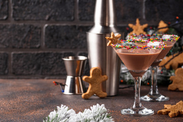 Sugar cookie martini with sprinkles rim