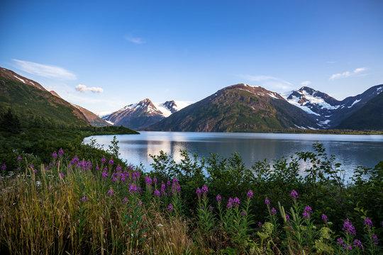 Portage Lake Landscape, Whittier, Alaska