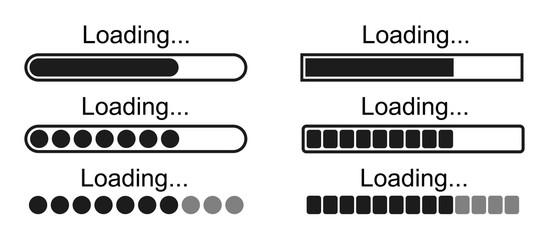 Set loading bar icons – stock vector