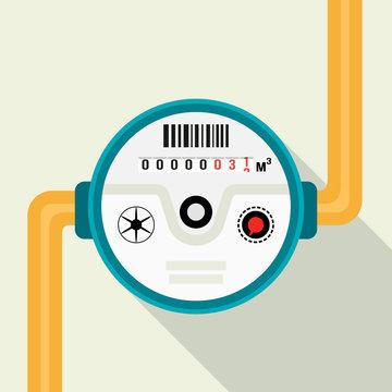 Water meter. Vector illustration of a water meter