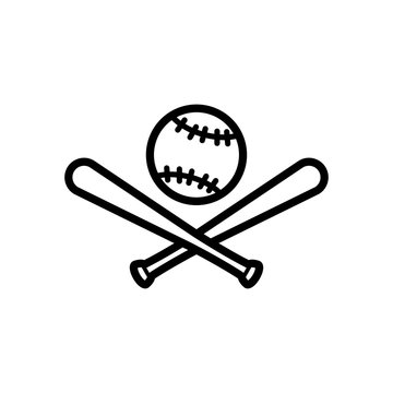 baseball and stick icon