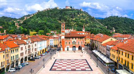 Marostica - charming medieval town, calling Chess village. Veneto. Italy