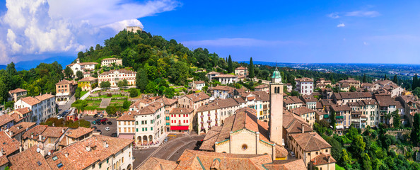Most beautiful medieval villages (borgo) of Italy series - Asolo in Veneto region Fotomurales