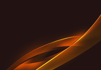 Abstract background waves. Dark brown and orange abstract background for wallpaper oder business card
