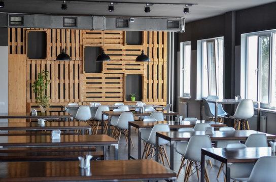 Modern interior of a cafe or a restaurant