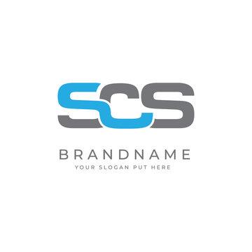 SCH Or SOS Letter logo design template