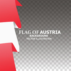 Background with flag of Austria. Colorful illustration with flag for web design. Illustration with transparent background.