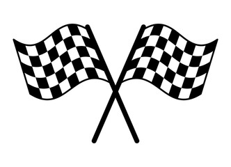 Checkered or chequered flag for car racing flat vector icon for sports apps and websites Fototapete
